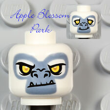 NEW Lego Animal WHITE MINIFIG HEAD -Chima Gorilla Grizzam Monster Ape Fang Teeth