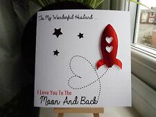 Handmade Personalised Husband Wife Anniversary Birthday Valentines Day Card