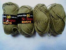 4 Skeins Schaffhauser  St-Tropez Extra wool/cotton yarn #46 olive