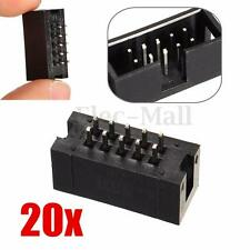 20x 2.54mm 10Pin 2x5pin Double Row Straight Male Header Connector IDC Socket Box