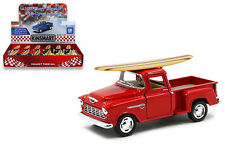 12 Pack of 1955 Chevy Pick up Truck Die-cast Car 1:32 Kinsmart 5 inch SURFBOARD