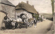 Maiden Newton. Dorchester Road # 54563 by Frith. Heavy Horses & Cart.