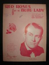 Red Roses For A Blue Lady Sheet Music Vintage 1948 Vaughn Monroe Sid Tepper (O)