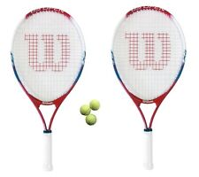 "2 x Wilson US Open 23"" Junior Tennis Rackets + 3 Tennis Balls RRP £90"