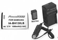 Battery +Charger f/ Samsung SMX-C20LN SMX-C20UN SMX-C24