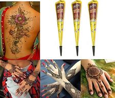 3x Henna Paste Cone Golecha Chestnut brown 75g Clinically tested Mehndi Indian