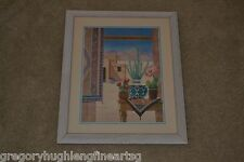 GLORIA ERIKSEN Finest SOUTHWEST Art Piece on eBay Mountains Desert Cactus Frame