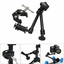 11'' Heavy Duty Articulating Magic Arm + Super Clamp Crab Plier Clip DSLR Camera