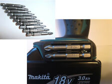 Makita Impact Drill Driver BIT HOLDER + torsion 10pcs s2 non slip pz2 pozi set