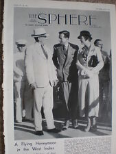 Article Prince George Duke of Kent & Princess Marina arrive West Indies 1935