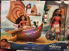 Disney Moana Starlight Canoe And Friends Doll Pua Heihei Toy