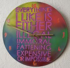 FUNKY WALL CLOCKS .words.lyrics.poems.phrases.music.recycled.records.glastonbury