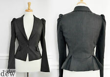 WAREHOUSE TWEED vintage 1940's STYLE JACKET bustle peplum PUFFED shoulders 14