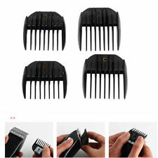 4Pcs Guide Comb Attachment For Electric Hair Clipper Trimmer Shaver Black