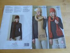 Knitting Pattern - Women's Pull-On Hats and Matching Scarves, d.k.
