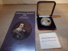5 lats 2010 Latvia Duke Jacob´s 400th Anniversary Silver Collector Coin PROOF
