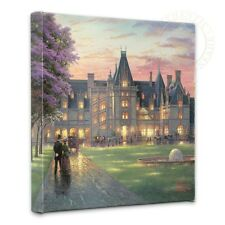 "Thomas Kinkade - Elegant Evening at Biltmore  – 14"" x 14"" Gallery Wrapped Canvas"