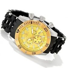 New Mens Invicta 10253 Sea Spider Swiss Chronograph Gold Tone Dial Watch