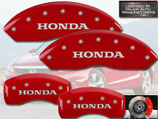 "2003-2007 ""Honda"" Accord 6Cyl EX Front + Rear Red MGP Brake Disc Caliper Covers"