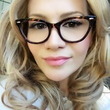 SEXY Small Cat Eye Brown Tortoise Nasty Hot Kitti Clear Eye Glasses Frames 1404