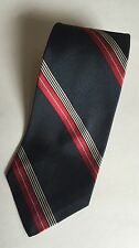 Mens POLO RALPH LAUREN Blue Label Red And Grey/Gray Striped Tie