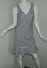 New Women bebe Striped Multi-Color Sleeveless Casual Work Dress Size M NWT $129