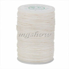 100M Waxed Natural Linen Thread Cord Leather Craft Chisel Sewing 0.6mm White