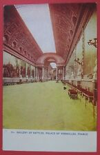 ANTIQUE GALLERY OF BATTLES-PALACE OF VERSAILLES POSTCARD-FRANCE