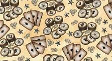 WESTERN ALBUM 7387 04 Brown Quilt Fabric BTY from Blank Quilting