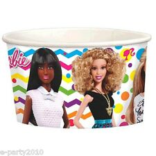 BARBIE Sparkle ICE CREAM CUPS (8) ~Birthday Party Supplies Treat Cup Favor Loot