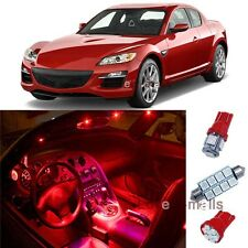 Deluxe Red Light SMD Car Interior LED Package 12pcs Kit For Mazda RX-8 2004-2011
