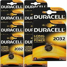 10 x Duracell CR2032 3V Lithum Coin Cell Batteries Expiry 2024 Original Genuine