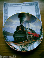 FRANKLIN MINT PLATE TRAIN CANADIAN PACIFIC NICHOLAS TRUDGIAN DOULTON PERFECT