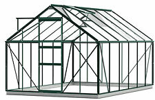 Simplicity SUN Greenhouse 8ft3 x12ft4 Starter Package Green with Toughened glass