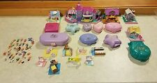 HUGE LOT OF POLLY POCKET BLUEBIRD FIGURES PLAYSETS & COMPACTS VINTAGE