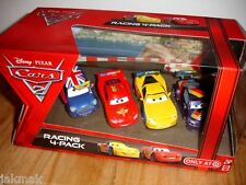 Disney Pixar Cars 2 RACING 4-PACK~Ronnie DEL COOPER,Max Schnell,Jeff Corvette +