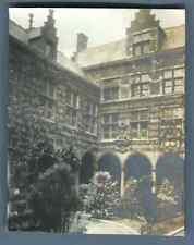 België, Antwerpen, Museum Plantin-Moretus Hof Vintage silver print. Anvers