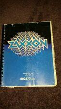 """Original Sega/Gremlin """"Zaxxon"""" Coin-Op Arcade Video Game manual"""