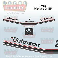 1985 Johnson 2 HP Sea-Horse Outboard Reproduction 9 Pc Marine Vinyl Decals