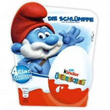 Ferrero Kinder Surprise Smurfs / 4 eggs /