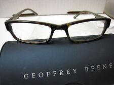 GEOFFREY BEENE EYEGLASS FRAMES Style  EDITOR in TORTOISE  52-16-140 W/ Case