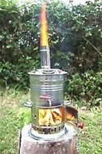 CHROME CHARCOAL SAMOVAR BOAT CAMPING HIKING WATER HEATER STOVE KETTLE TEA POT