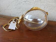 JUDITH LEIBER RARE CLEAR LUCITE EGG SHAPED BAG WITH BRASS ANGELS HARDWARE