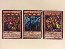 YUGIOH Card GOD CARD SET: SLIFER, RA, OBELISK Ultra Rare Limited Edition LDK2