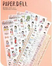 6sheets girl calendar diary  Filofax Schedule Notebook deco transparent sticker