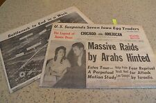 1956 Chicago American Newspaper The Legend of James Dean Sal Maglie Taylor Comic