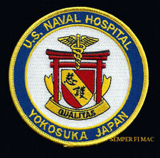 US NAVAL HOSPITAL YOKOSUKA JAPAN PATCH PIN UP US NAVY CORPSMAN DOCTOR DOC NURSE