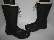 Womens UGG Australia Black Snowpeak Tall Leather Waterproof Boots Size 11
