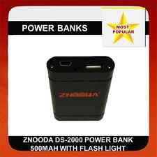 Znooda DS-2000 Power Bank 500MAH W/ Flashlight