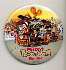 Mickey's Toontown Button - New - At Opening